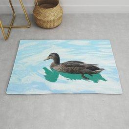 duck and lake Rug