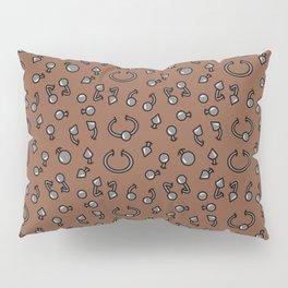 Piercing alternative body jewellery pattern Pillow Sham