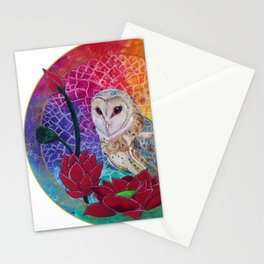 Lakshmi's Vahana ( Bird Whisperer Project Owl ) Stationery Cards