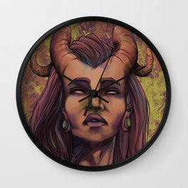 On the skin Wall Clock