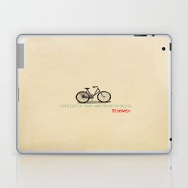 I Thought Of That While Riding My Bicycle Einstein Laptop & iPad Skin