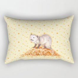 Autumn Opossum Rectangular Pillow