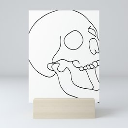 Schedel Black Mini Art Print