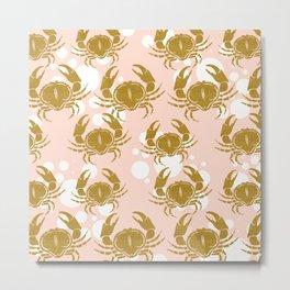 Golden sea crab Metal Print