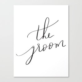 the groom Canvas Print