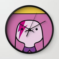 princess bubblegum Wall Clocks featuring Princess Bubblegum  by lapinette