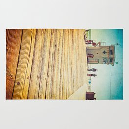 LAGUNA BEACH - BOARDWALK AND LIFEGUARD TOWER Rug