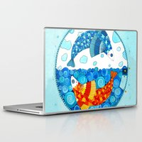 pisces Laptop & iPad Skins featuring Pisces by Sandra Nascimento