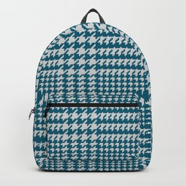 Classic knit houndstooth plaid in blue Backpack