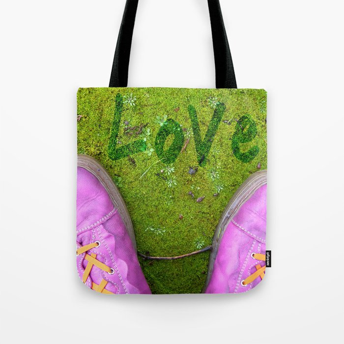 Vegetal Garden and Pink Shoes Tote Bag