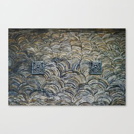 Stacked Tile Wall with Shisa Canvas Print