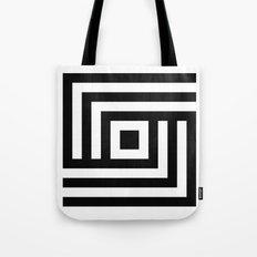 B/w striped diamond Tote Bag