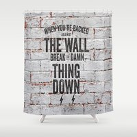 motivational Shower Curtains featuring Motivational quote n. 2 by AnnaF31