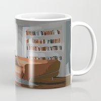 read Mugs featuring Read by JuniqueStudio