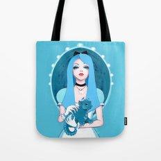Alice Wore Blue Tote Bag