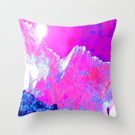 Alpenglow in Violet Throw Pillow