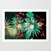 philippines Art Prints featuring Fireworks - Philippines 7 by David Johnson