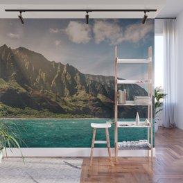 Na Pali Coast Kauai Hawaii Printable Wall Art | Tropical Beach Nature Ocean Coastal Travel Photography Print Wall Mural