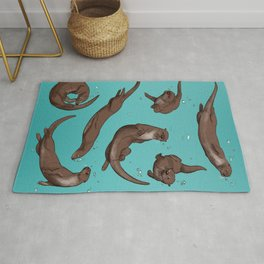 Otter Friends Bubble Sea Rug
