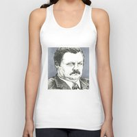 ron swanson Tank Tops featuring Ron Swanson by Molly Morren