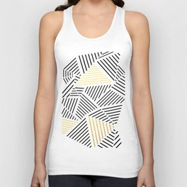 A Linear White Gold New Unisex Tank Top
