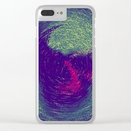 Skull Painting Clear iPhone Case