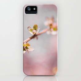 pink blossom 3 iPhone Case