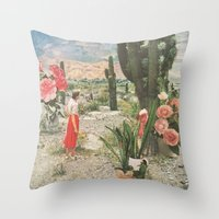 collage Throw Pillows featuring Decor by Sarah Eisenlohr