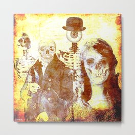 Monsieur Bone and downstairs neighbours Metal Print