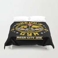 law Duvet Covers featuring I'm the law - Gym by Buby87