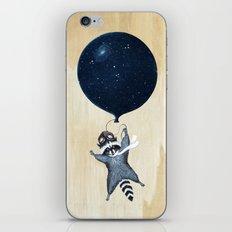 Raccoon Balloon iPhone & iPod Skin