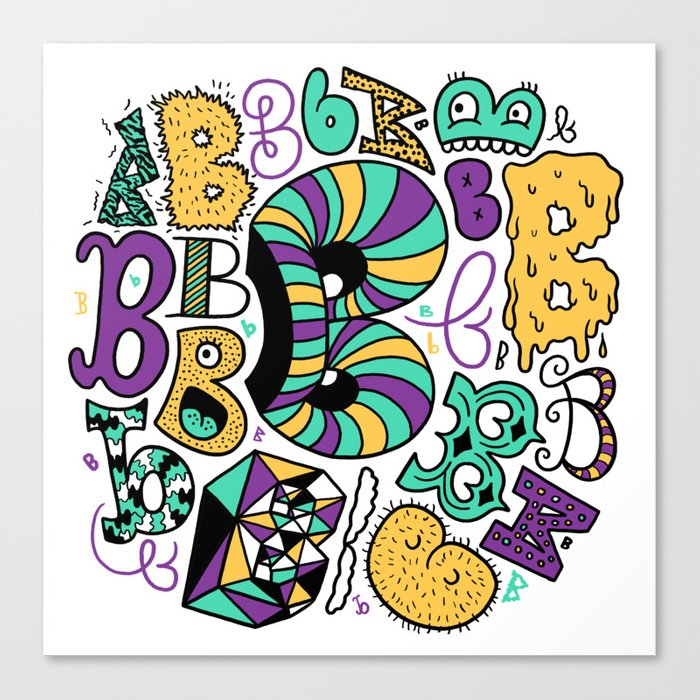 All the B's Canvas Print