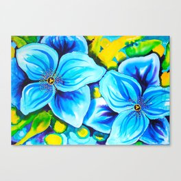 Blue Poppies 3 Canvas Print