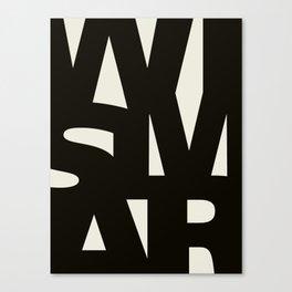 Wismar Typografie Canvas Print