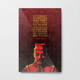 Sun Tzu Inspirational Quote: Victorious and Defeated Warriors Metal Print