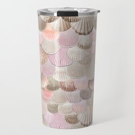 MERMAID SHELLS - CORAL ROSEGOLD Travel Mug