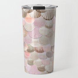 MERMAID SHELLS - CORAL ROSEGOLD Travel Mug