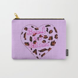 BeautyIsAReligion `Leopard Heart` Carry-All Pouch
