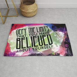 Defy the Limits You Have Believed About Yourself Rug