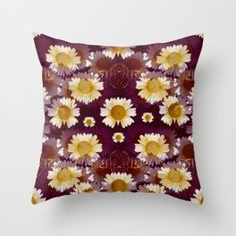 Celtic and Floral Pattern Throw Pillow