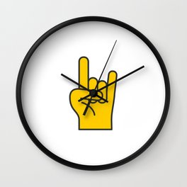 Hans Gesture - The Horns Wall Clock