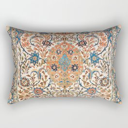 Isfahan Antique Central Persian Carpet Print Rectangular Pillow