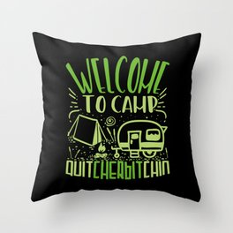 Camping Outdoor Gift Throw Pillow