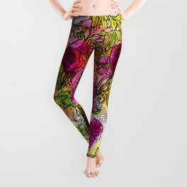 Dog-Rose. Autumn. Leggings