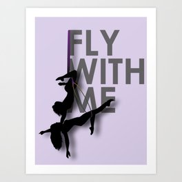 """Fly with Me"" Duo Aerialists Art Print"