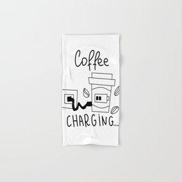 Coffee charging Hand & Bath Towel