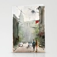 street Stationery Cards featuring Street by Baris erdem