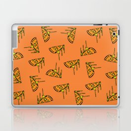 Pepperoni Pizza Dripping Cheese by the Slice Pattern (orange) Laptop & iPad Skin