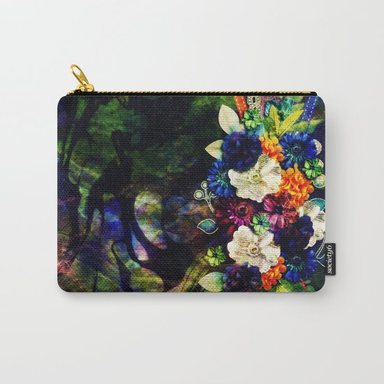 floral beauty marble Carry-All Pouch