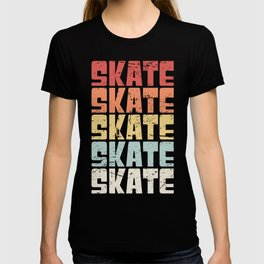 Retro 70s SKATE Text T-shirt